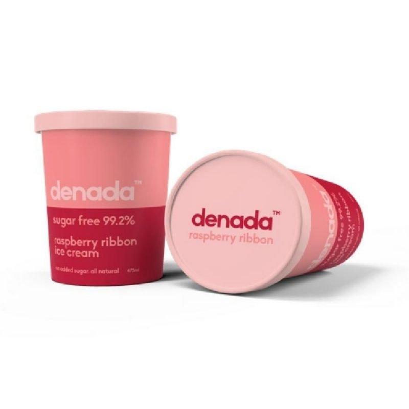 Denada - Raspberry Ribbon Ice Cream 475ML x 6 (FROZEN) (Carton)