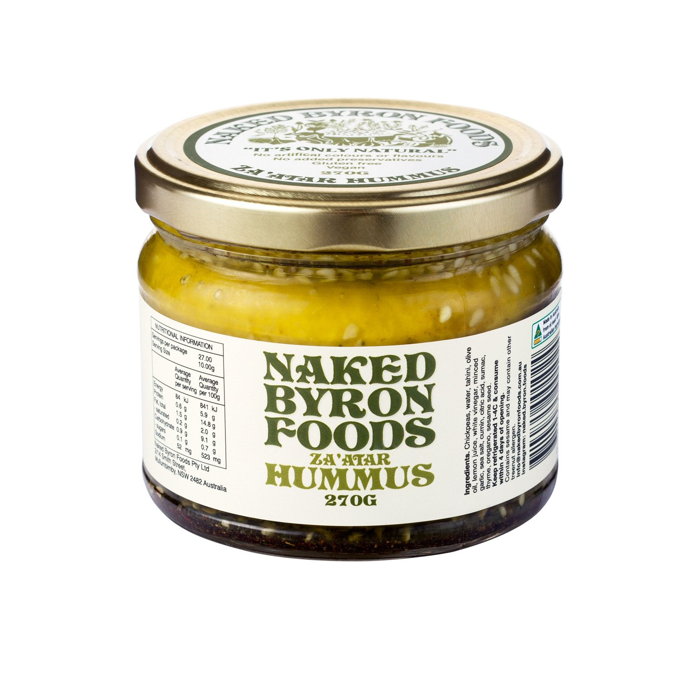 Naked Byron - *NEW* Smoked Paprika Hummus 270g x 6 (Carton