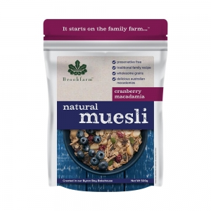 Brookfarm - Natural Macadamia Muesli with Cranberry