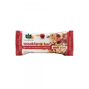 Brookfarm - Wholegrain Macadamia & Cranberry Bar x 12