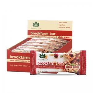 Brookfarm - Wholegrain Macadamia & Cranberry Bar Multipack x 6