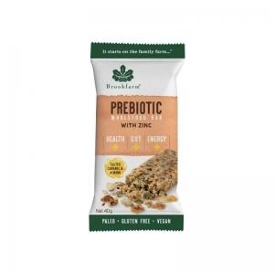 Brookfarm - *NEW* Salted Caramel & Almond Prebiotic Bar 12 x 40g (Carton) (1320-