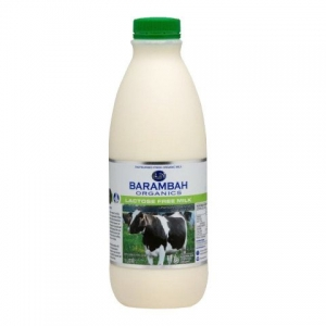 Barambah Organics - Milk Lactose Free Full Cream 1L (ACO 4002)