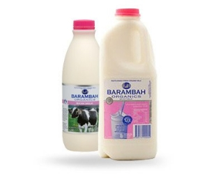 Barambah Organics - Milk Skim 1L (ACO 4002P) (Pink Lid)