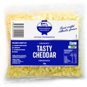 Barambah Organics - Cheese Shredded Cheddar 250g (ACO 4002P)