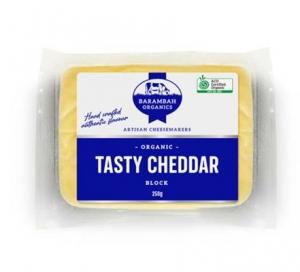 """Barambah Organics - Cheese Block Cheddar """"Clean and Green Hectares"""" 250g"""