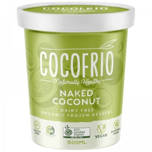 Cocofrio -  Organic Naked Coconut frozen Dessert 500ml x 6 Tubs (Carton)