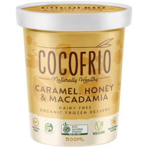 Cocofrio -  Organic Caramel Honey Maca frozen Dessert 500ml x 6 Tubs (Carton)