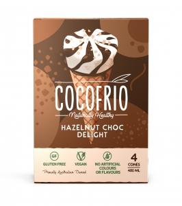 Cocofrio Cones - Hazelnut Chocolate Delight