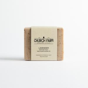 Church Farm - Lavender & Purple Clay Soap