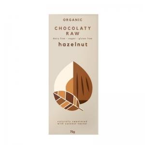 Chocolaty Raw - Hazelnut 75g x 12 (Carton)