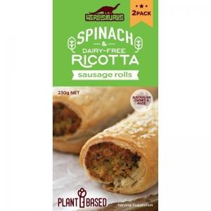 Herbisaurus - Spinach & Ricotta Sausage Rolls x 6 (230g) ( Frozen ) (Carton)