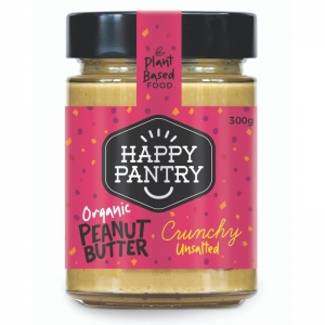 Happy Pantry - Peanut Butter Unsalted Organic Crunchy