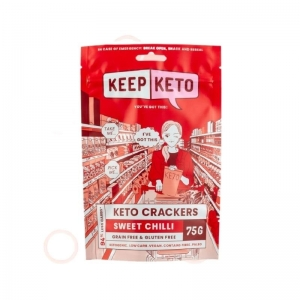 Keep Keto - *NEW* Sweet Chilli Crackers 75g (D600)