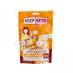 Keep Keto - *NEW* Garlic Bread Crackers 75g (D500)