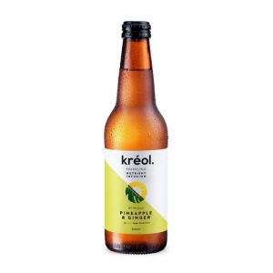 Kreol - Pineapple & Ginger 330ml x 12 (Refrigerate