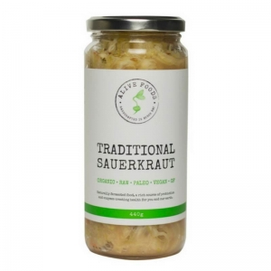 Alive Foods - Traditional Sauerkraut 440g x 6 (Carton)