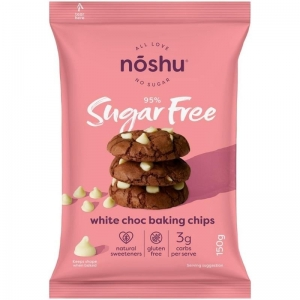 Noshu - White Choc Baking Chips 150g x 8 (Carton)