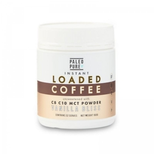 Paleo Pure - LOADED COFFEE Vanilla Bliss MCT Powder 160g