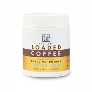 Paleo Pure - LOADED COFFEE Butter Bomb MCT Powder 160g