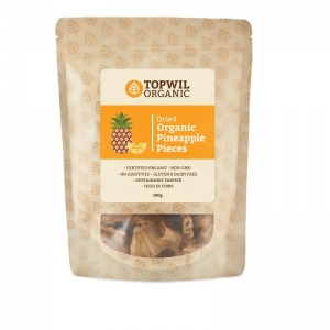 TopWil - Organic Dried Pineapple Pieces 100g x 6