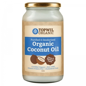 TopWil - Organic Purified Deodorized Coconut Oil 1ltr x 4