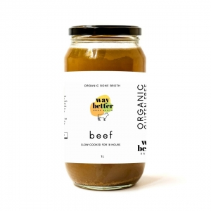 Way Better Broth Beef Organic 1ltr Jar x 6 (Carton)
