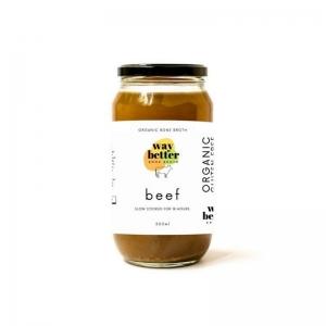 Way Better Broth Beef Organic 500ml Jar x 12 (Carton)