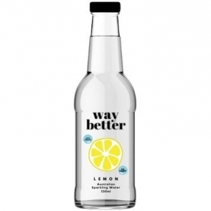 Way Better Drinks - *NEW CODE* Lemon Sparkling Water 330ml x 12