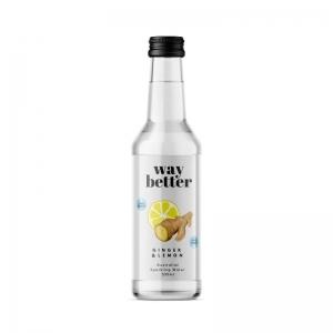 Way Better Drinks - *NEW CODE* Ginger + Lemon Sparkling Water 330ml x 12