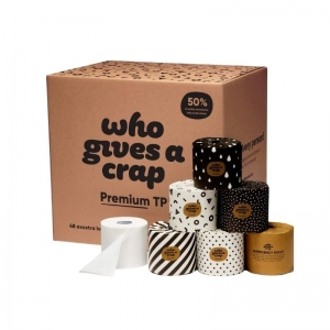Who Gives A Crap - PREMIUM TP 100% Bamboo Toilet Paper 48's Exxxtra Long  (NO BA